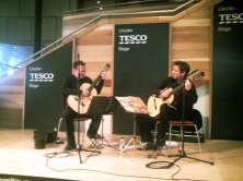 Performing on the Tesco stage at Wales Millennium Centre.